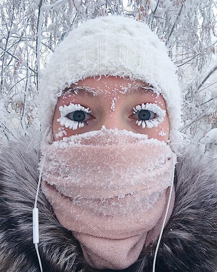 地球上最冷村庄!睫毛都冰起来了,气温低至-62C!