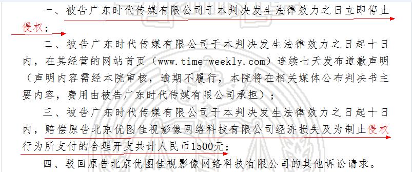 东方IC图片版权存疑 下载微博图片剪裁销售造成使用方侵权