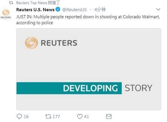 威尼斯人开户:美国科罗拉多沃尔玛发生枪击案_多人倒下伤亡不明