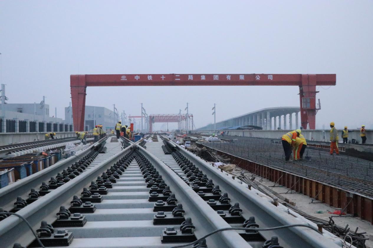最新!北京轨道交通新机场线铺轨全面展开